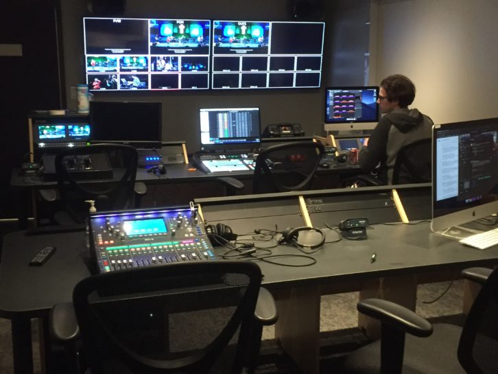Grace Polaris Church control room